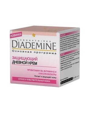 Защищающий и увлажняющий дневной уход ОСНОВНАЯ ПРОГРАММА 50мл Diademine. Цвет: молочный