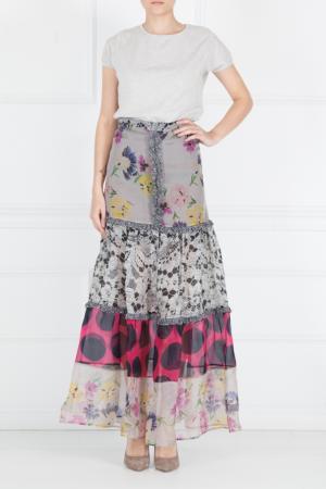 Шелковая юбка Duro Olowu. Цвет: multicolor
