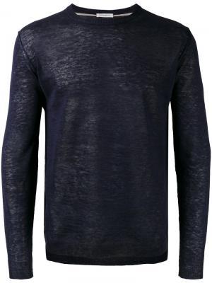 Джемпер с круглым вырезом Paolo Pecora. Цвет: синий