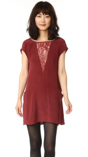 Свободное платье Chantilly Nightcap x Carisa Rene. Цвет: винный