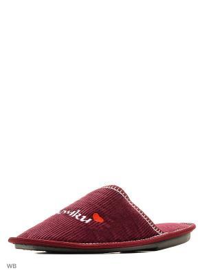 Тапочки PANTOLETTI. Цвет: бордовый