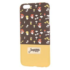 Чехол для iPhone 6 Plus  Грибочки Brown/Sand Запорожец. Цвет: коричневый,бежевый