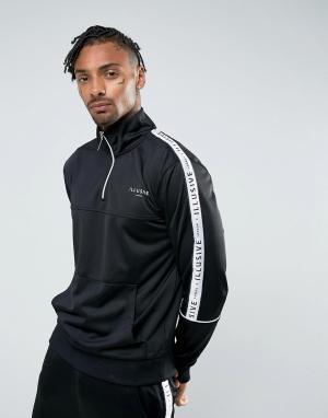 Illusive London Черная спортивная куртка с отделкой лентой. Цвет: черный
