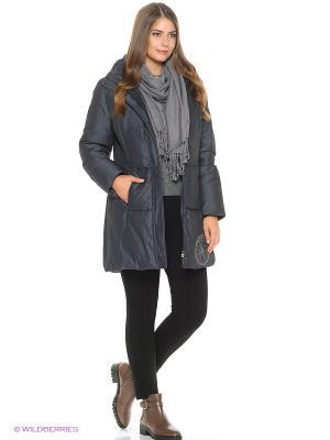 Стеганое пальто Violanti Land. Цвет: серый, фиолетовый
