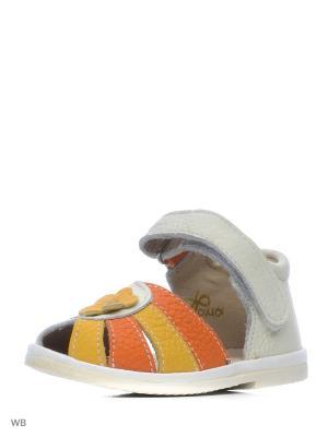 Туфли ФОМА. Цвет: белый, оранжевый