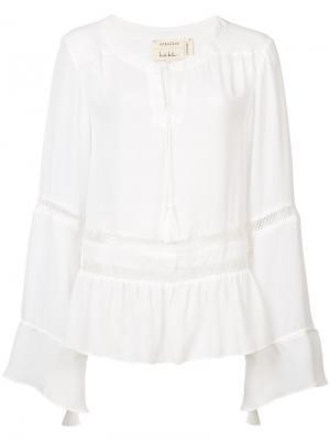 Блузка с длинными рукавами Nicole Miller. Цвет: белый