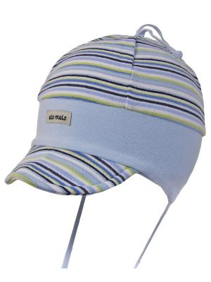 Шапка Elo-Melo. Цвет: морская волна, светло-зеленый, серо-коричневый