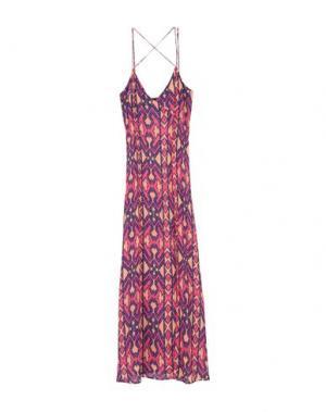 Длинное платье VIX PAULAHERMANNY. Цвет: фуксия