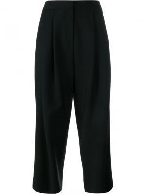 Укороченные широкие брюки Adam Lippes. Цвет: чёрный