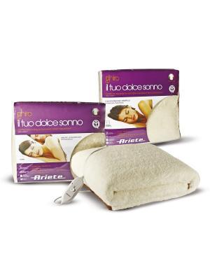 Электрические одеяла  Ariete 60 X 2 Вт, двуспальное, 50% шерсть. Цвет: бежевый