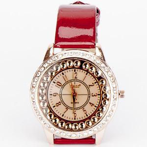 Часы Звездный час бижутерный сплав, арт. WT-115 Бусики-Колечки. Цвет: красный