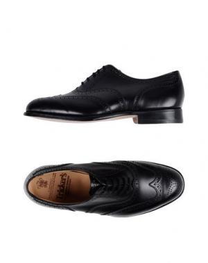 Обувь на шнурках TRICKER'S. Цвет: черный