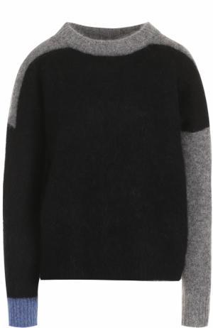 Вязаный пуловер с контрастными вставками Acne Studios. Цвет: черный