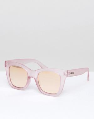 Quay Australia Розовые солнцезащитные очки «кошачий глаз». Цвет: очистить