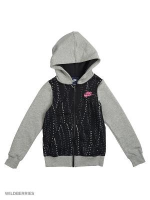 Толстовка G NSW HDY FZ AOP3 Nike. Цвет: черный, серый