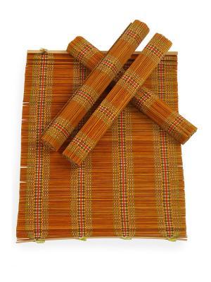 Салфетка из бамбука ,4 штук DAVANA. Цвет: коричневый