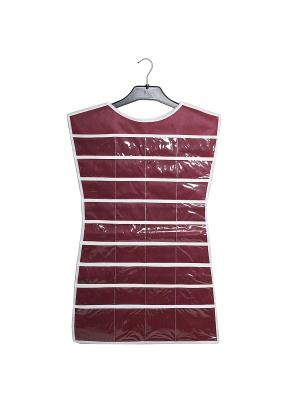Органайзер-платье для украшений Red Rose Homsu. Цвет: бордовый