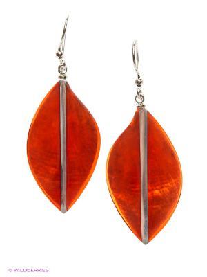 Серьги Culture Mix. Цвет: оранжевый