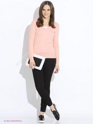 Пуловер Oodji. Цвет: персиковый