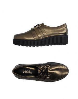 Обувь на шнурках MALOLES. Цвет: золотистый