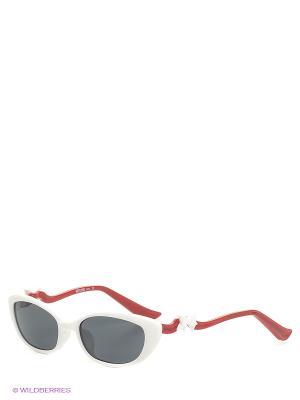 Солнцезащитные очки MO 628 02 MOSCHINO. Цвет: белый, черный, красный