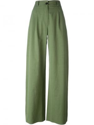 Широкие брюки Société Anonyme. Цвет: зелёный