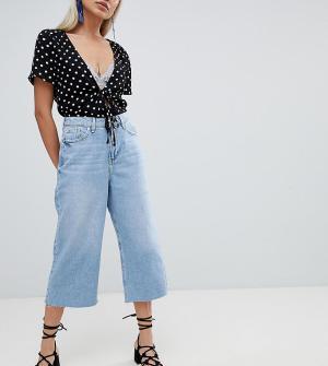 River Island Petite Укороченные джинсы широкого кроя Alexa. Цвет: синий
