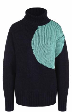Шерстяной свитер свободного кроя 3.1 Phillip Lim. Цвет: темно-синий