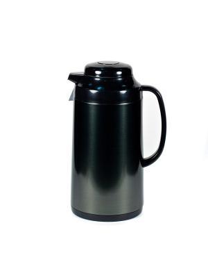 Термос метал. 1,0л.  со стеклянной колбой Черный Tiger corporation. Цвет: черный