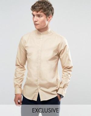 Noak Рубашка в стиле ретро с белыми пуговицами. Цвет: рыжий