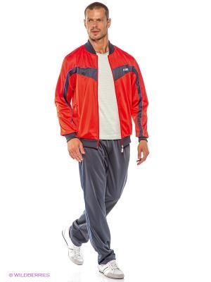 Спортивный костюм ADDIC. Цвет: красный, серый