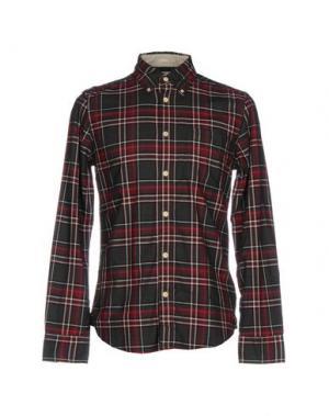 Pубашка DEUS EX MACHINA. Цвет: кирпично-красный