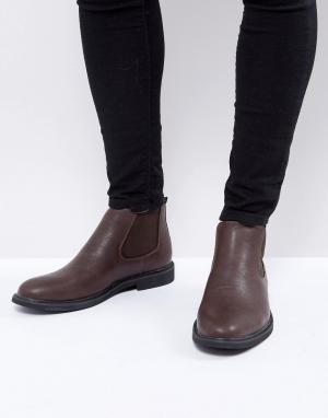 Brave Soul Коричневые ботинки челси. Цвет: коричневый