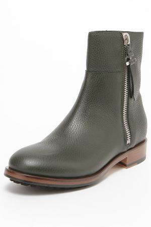 Ботинки Pollini. Цвет: темно-зеленый