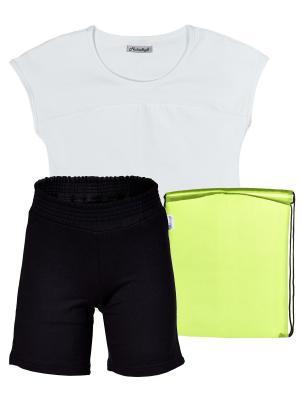 Комплект для физкультуры девочки МИКИТА. Цвет: черный, белый