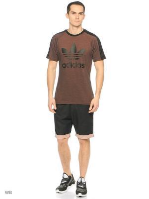 Джинсовые шорты Adidas. Цвет: черный