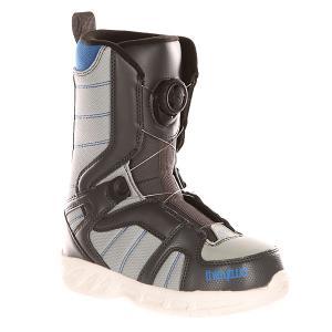 Ботинки для сноуборда детские  Z Boa Dark Grey Thirty Two. Цвет: черный,серый,синий