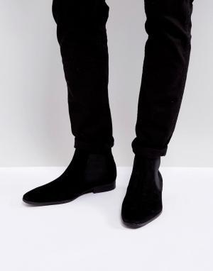 Kurt Geiger London Замшевые ботинки челси Francis. Цвет: черный