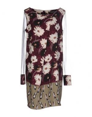 Короткое платье CARLA MONTANARINI. Цвет: пурпурный