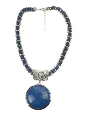 Колье Bijoux Land. Цвет: серебристый, синий