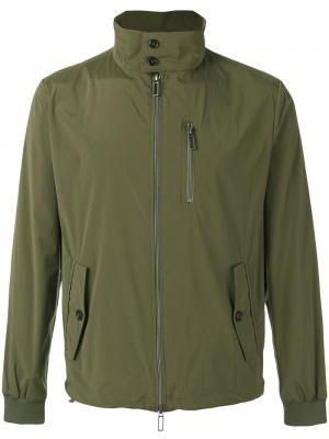 Куртка на молнии Paolo Pecora. Цвет: зелёный