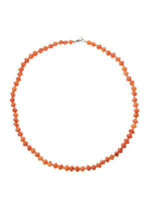 Бусы Migura. Цвет: оранжевый