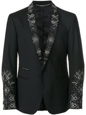 Декорированный пиджак Philipp Plein. Цвет: чёрный