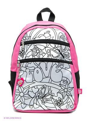 Рюкзак, 5 перманентных маркеров, размер 27х34 см, 1/6 Simba. Цвет: черный, белый