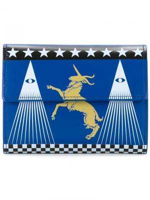 Бумажник с принтом Undercover. Цвет: синий