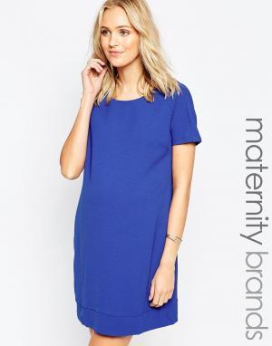 Ripe Цельнокройное платье для беременных Maternity Sara. Цвет: синий