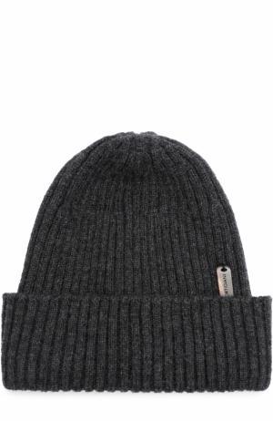 Кашемировая шапка фактурной вязки Cortigiani. Цвет: серый