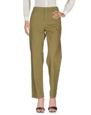 Повседневные брюки G750G. Цвет: зеленый-милитари