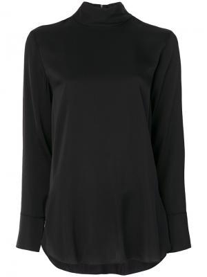 Блузка с высоким воротом By Malene Birger. Цвет: чёрный