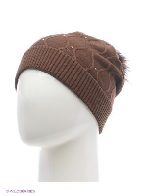 Колибри Беркле шапка женская с помпоном Berkle. Цвет: темно-коричневый